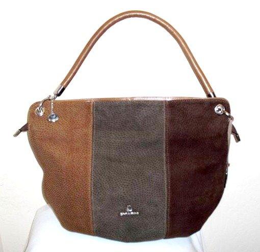 Chiarini- brown, tri-color calf leather Tote