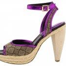 Nine West Womens Shoes Size 9.5 Dressy Heels Pumps Pink Purple Tan Ciscoann Platform NIB