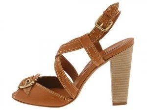 BCBG Max Azria Womans Shoes Size 9.5 Platform Strappy Dressy Heels Buckle Tan NIB