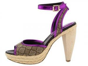 Nine West Womens Shoes Size 8.5 Dressy Heels Pumps Pink Purple Tan Ciscoann Platform NIB