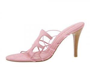 Gabriella Rocha Womans Size 9.5 Shoes Pink Slide Dress Sandal Suede Leather Heels Pump NIB