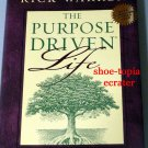 The Purpose Driven Life: What on Earth Am I Here For? by Rick Warren 2002 Hardback w/Dust Cover