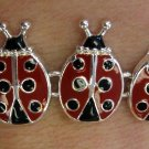Ladybug Bracelet Red Black Silver Magnetic Insect Lady Bug