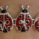 Ladybug Bracelet Red Black Silver Magnetic Insect Lady Bug