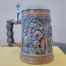 Staffel Stoneware Beer Stein with lid - Horses Knights-rare-very nice