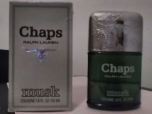 Vintage Ralph Lauren CHAPS MUSK Cologne Splash 1.8 Fl Oz 55 ml Min.  Full USA