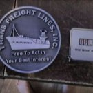 1979 TFL Trans Freight  Lines Inc TFL INDEPENDENCE Coin+TAPE MEASURE