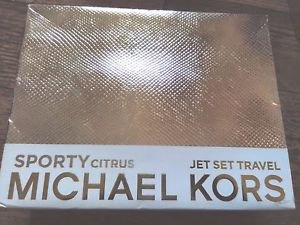 MICHAEL KORS SPORTY CITRUS 5 PIECE GIFT SET - 3.4 OZ EAU DE PARFUM +MAKEUP+BAG