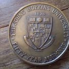 "JOHN'S HOPKINS UNIVERSITY FIFTY YEAR ALUMNUS ""JOHN S BRUENING J"" - 1928 - BRONZE"