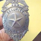 RARE FAA SECURITY TECHNICAL CENTER NJ BADGE-HALLMARKED BLACKENTON