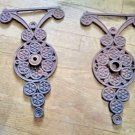 2 LARGE CAST IRON ARCHITECTURAL SALVAGE EXTERIOR DECORATIONS-WALL ART