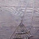 LARGE GOLD TONE PIRATE SHIP/CLIPPER SHIP NECKLACE 5.5 INCHES LONG-3 GOLD CHAINS