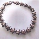 STERLING SILVER STAR BRACLET 925 7 GRAMS 7 INCHES LONG