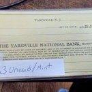 New Jersey NJ Yardville 33 unused mint checks Yardville National Bank