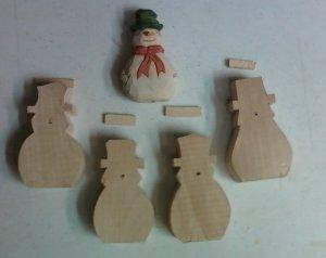 Six (6) Snowman Basswood Blanks