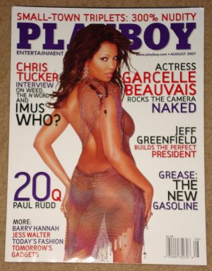 Playboy Magazine - August 2007 Garcelle Beauvais, Paul Rudd, Chris Tucker, gadgets, grease