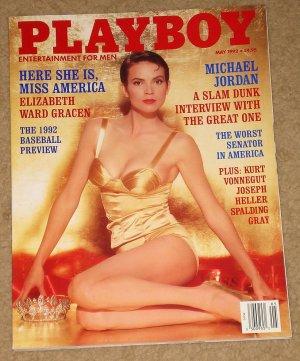Playboy Magazine - May 1992 Michael Jordan, Elizabeth Ward Gracen, baseball, Kurt Vonnegut