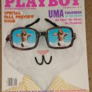 Playboy Magazine - September 1996 Uma Thurman, Nicholas Cage, cars, Patti McGuire, NFL football