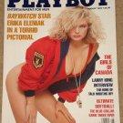 Playboy Magazine - August 1990 Baywatch Erika Eleniak, Larry King, Canadian girls, Dana carvey