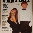 Playboy Magazine - March 1990 Donald trump, cars, dennis Hopper, European Playmates