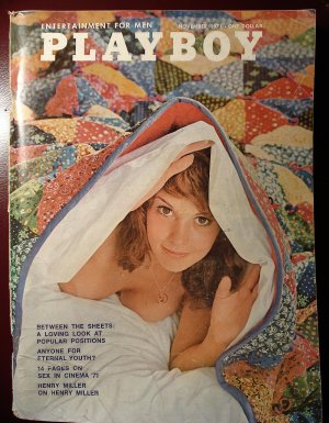 Playboy Magazine - November 1971 sex in cinema, Allen Klein, Henty Miller