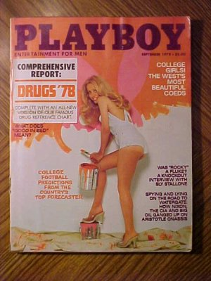 Playboy Magazine - September 1978 Drugs, college football, Rocky, Sylvester Stallone, PAC 10 girls