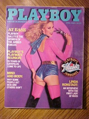 Playboy Magazine - April 1980 Women of the military, Playmate reunion, Linda Ronstadt