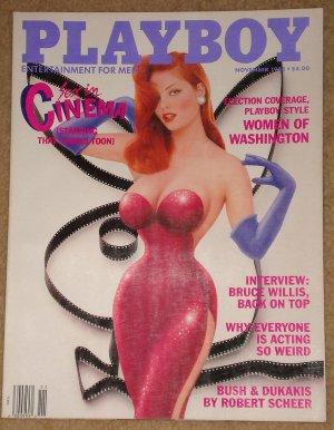 Playboy Magazine - November 1988, Women of washington, Bruce Willis, Sex in Cinema, John Cleese