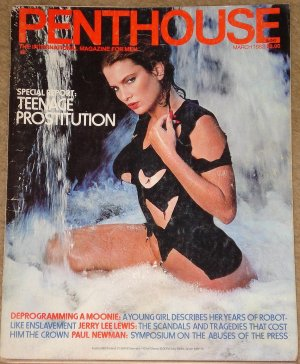 Penthouse magazine - March 1982, Teenage Prostitution, Paul Newman, Jerry lee Lewis, Moonies