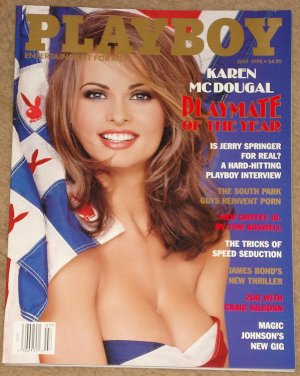Playboy Magazine - July 1998 (B) Karen McDougal, Jerry Springer, South Park, Ken Griffey Jr., 007