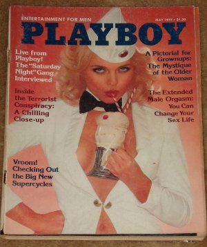 Playboy Magazine - May 1977 Saturday Night Live, SNL, Motorcycles, male orgasms, 30+ women