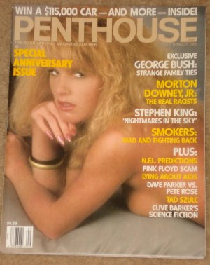 Penthouse magazine - September 1988 Morton Downey Jr., Dave Parker, George Bush, Smoker's rights