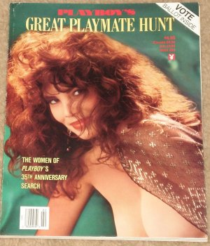 Playboy Magazine - 1989 Great Playmate Hunt pictorial - packed with pics and includes voting ballot!