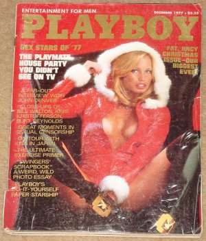 Playboy Magazine - December 1977 KISS in Japan, John Denver, Playmate house party, Bill Walton