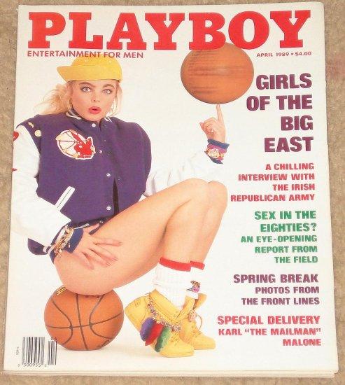 Playboy Magazine - April 1989 Mario Lemieux, IRA, Karl Malone, Girls of the Big East, sex in America