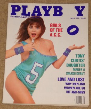Playboy Magazine - April 1990 James Spader, Stephen Hawking, Rock n roll cars, girls of the ACC