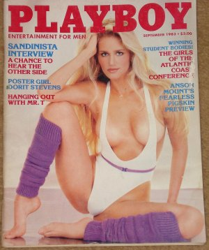 Playboy Magazine - September 1983 Dorit Stevens, Mr. T, Randy Newman, The Sandinistas