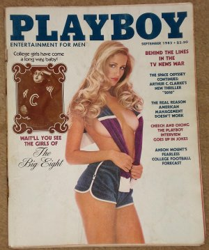 Playboy Magazine - September 1982 Cheech & Chong, Jerry Lewis telethon, Big 8 girls, Tom Petty