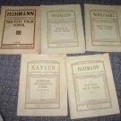 5 booklets the presser collection violin  Hohman-Wohlfahrt-Kayser