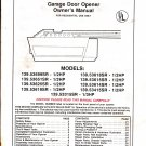 Sears Craftsman garage door opener owners manual models 139.53699sr & others