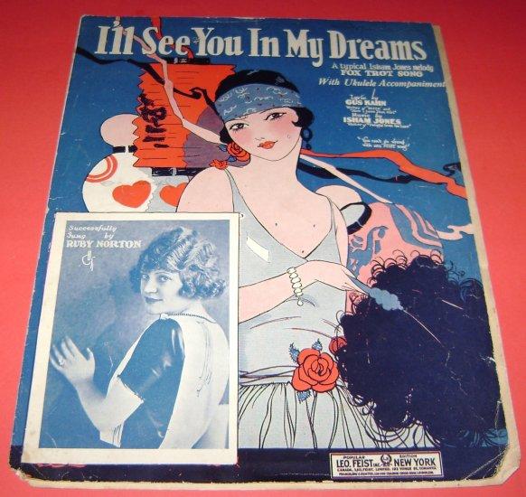 I'll see you in my dreams musci sheet Isham Jones Ruby Norton cover pic