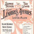 Rufus Lemaire's Affairs with Lester Allen Vintage music sheet