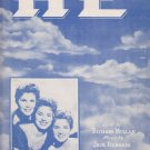 HE sheet music Richard Mullan Jack Richards McGuire Sisters Cover
