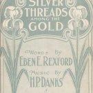 Silver Threads among the Gold Eben E Rexford H.P.Danks music sheet