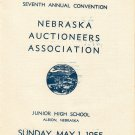 Seventh Annual Convention Nebraska Auctioneers Association 1955