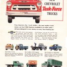 Chevrolet Task-Force Trucks advertisement full page