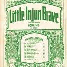 Little Injun Brave Indian Dance H.P Hopkins Music Sheet