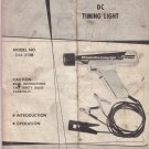 Sears Owners manual DC Timing Light Model 24402138