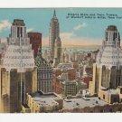 Vintage New York City Postcard Waldorf Astoria Hotel Empire State bldg