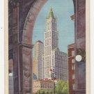 Vintage New York Postcard Woolworth & Transportation BLDG